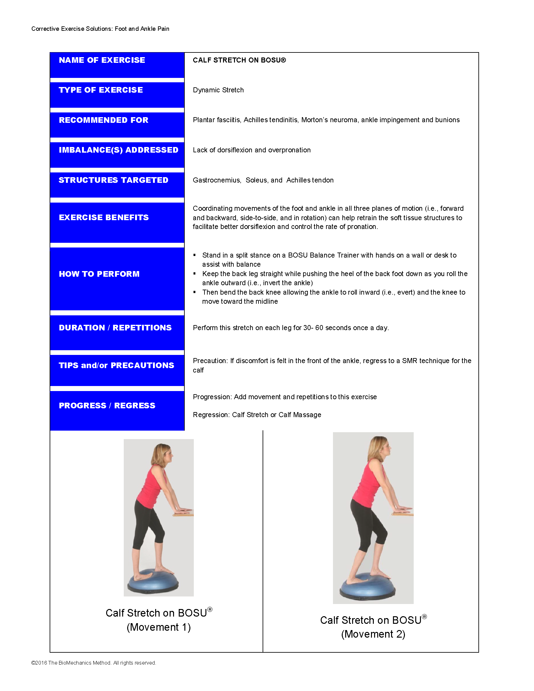 Calf Stretch on BOSU®