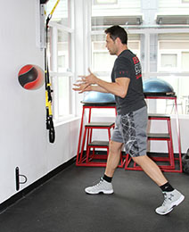 medicine ball toss finish