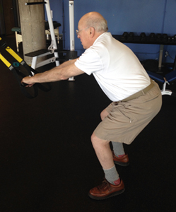 older adult squat