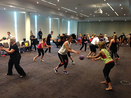 Ian O'Dwyer teaching play to trainers in Sydney