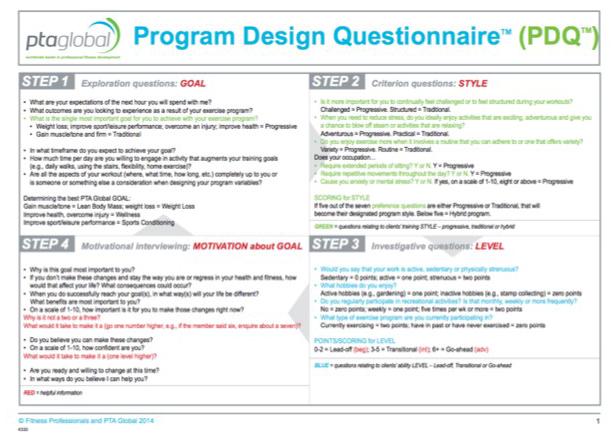 Program Design Questionnaire (PDQ)