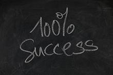 100 percent success