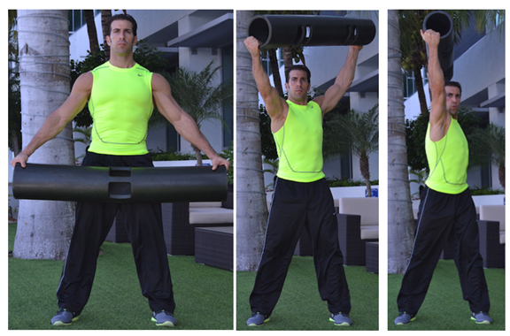 overhead press and twist with ViPR